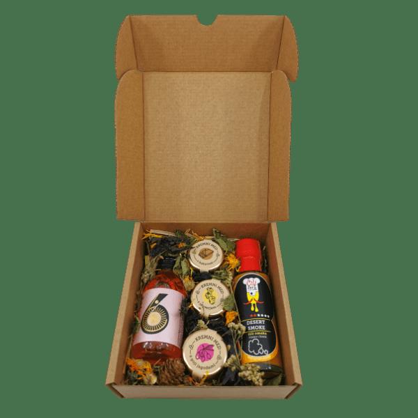 Darilni mix: ČILI FRIK omaka, 3 mini kremni medovi in Chillino